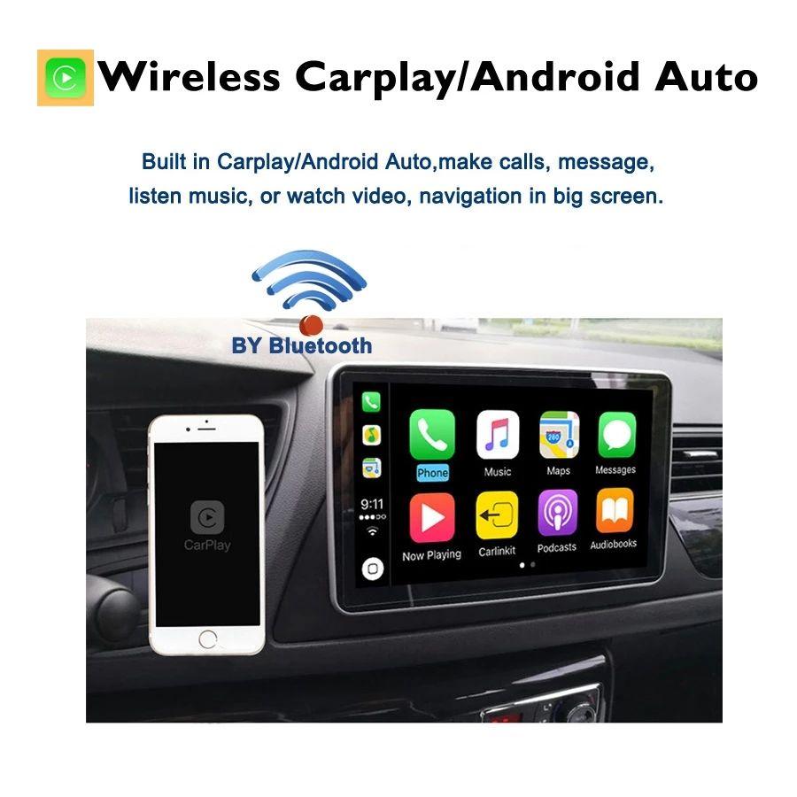 Frais sur le lecteur DVD de voiture auto sans fil et câblé Android Auto Car Lecteur Prise en charge de l'iPhone et du téléphone Android construit dans la carte mère