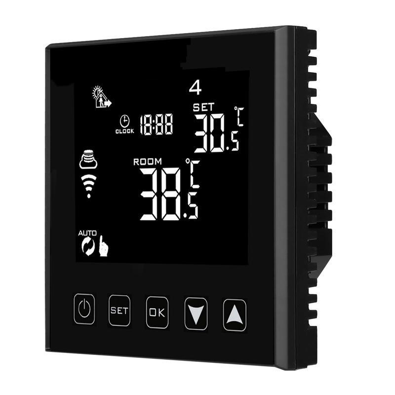HY603 -2WiFi Uzaktan Kumanda Siyah Elektrikli Yerden Isıtma ve Kızılötesi Panel Dijital WiFi Termostat Akıllı Ev