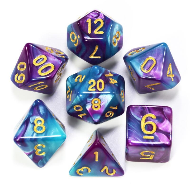 Violet Blue Dice Die Die Die Jouets Jeux en plastique Cubes d'anniversaire cadeau d'anniversaire