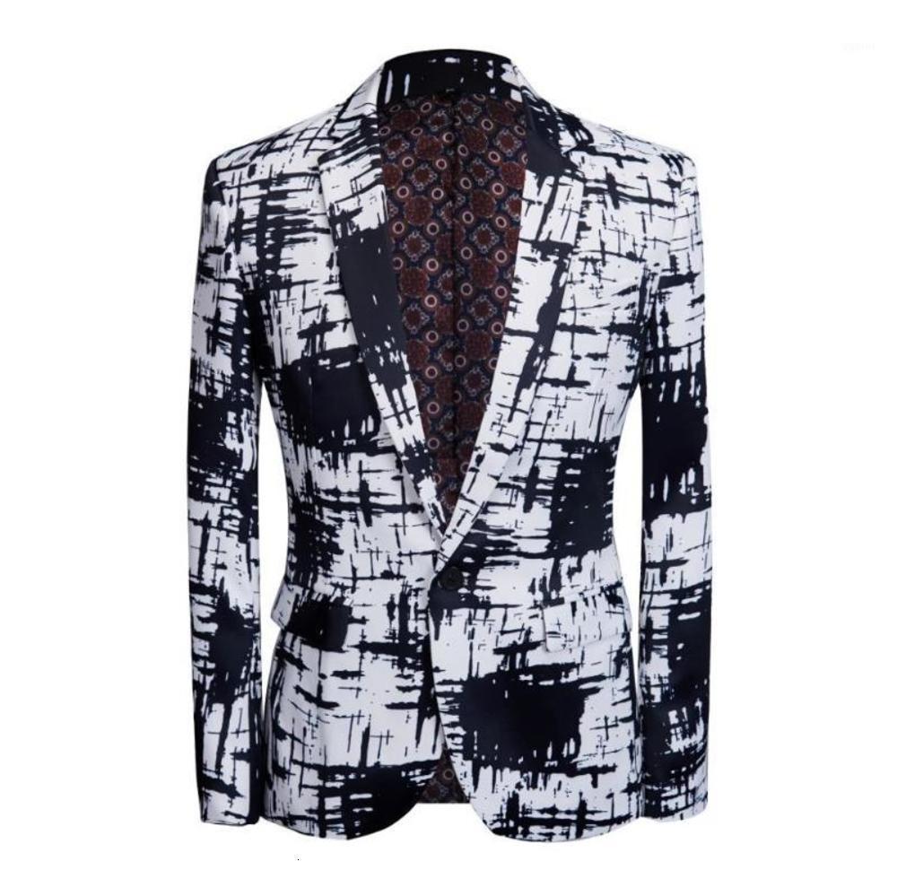 carffiv 2019 شقة طية صدر السترة البدلة بالأبيض والأسود عارضة ارتداء الأعمال الملابس حزب اللباس التخسيس blazer1