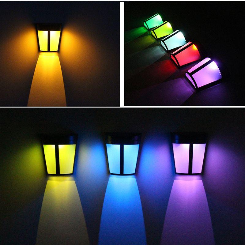 태양 조명 옥외 램프 6 LED 빛 광각 IP65 방수 전원 램프 벽 랜턴 갑판 파티오 마당 경로 및 드라이브 웨이 크레 테크 168