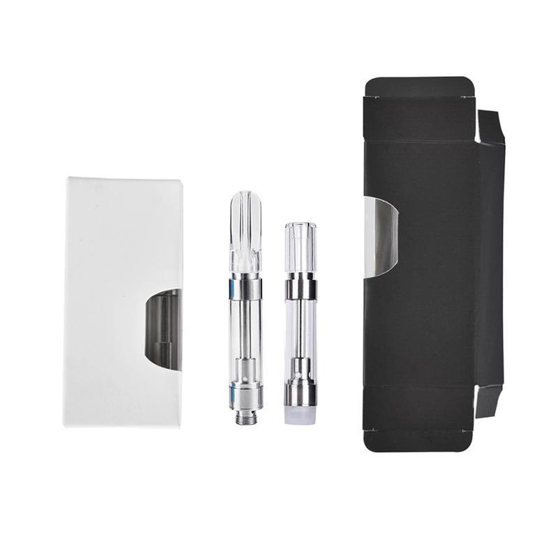 Керамическая катушка для картриджа из керамической картрина OEM Box упаковки e Cigarettes V vapes тележки 0.5ml 1 мл стеклянного распылителя масла на заказ бумаги
