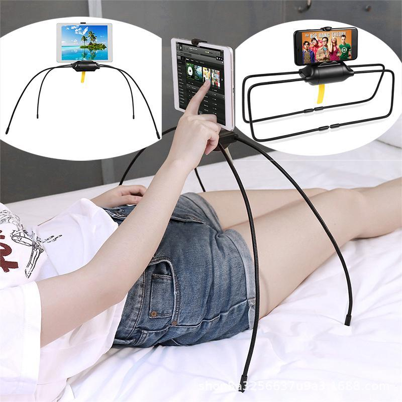 Cell Phone Mounts Mounts Universal Mobile Holder Flexível clipe de aranha para ipad tablet preguiçoso Cama em casa mesa de mesa Smartphone Stan