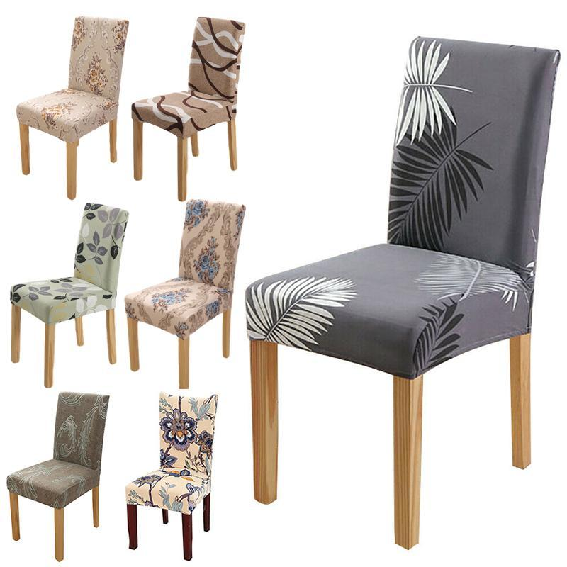 1 stücke Blumendruck Spandex Elastische Stuhl Slipcover Essingable für Home Room Universal SEAT Protector Covers