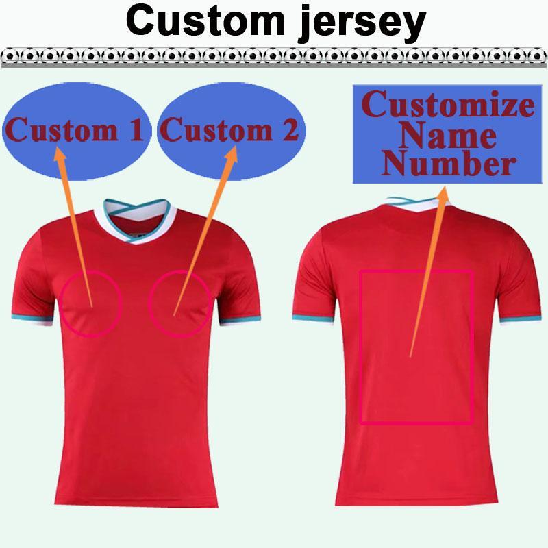 Custom National Team Club Mens Soccer Jersey Top Vous pouvez personnaliser les chemises de football design et le numéro tels que 14 Taiwang
