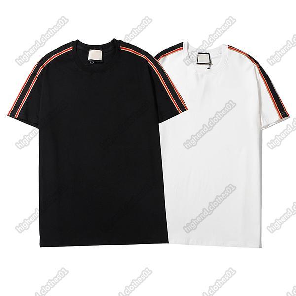 Erkek Tshirt Tasarımcılar Gömlek Lüks Giyim T Shirt Avrupa Sokak Moda Marka Mektup Nakış Erkekler Kadınlar Aynı Tişört Yüksek Kalite Tee001