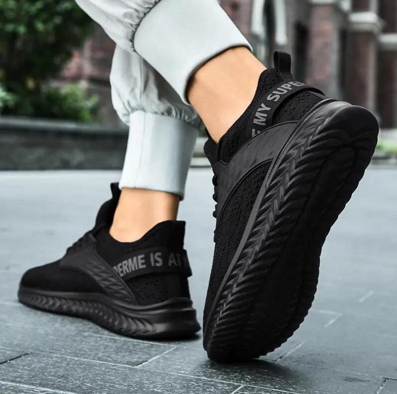 HE125 Moda Tasarımcısı Sneakers Ayakkabı Nefes Deri Yüzey Yüksek Kaliteli Örgü Erkekler Indirim Eğitmen Rahat Yürüyüş Beyaz Siyah EU39-44