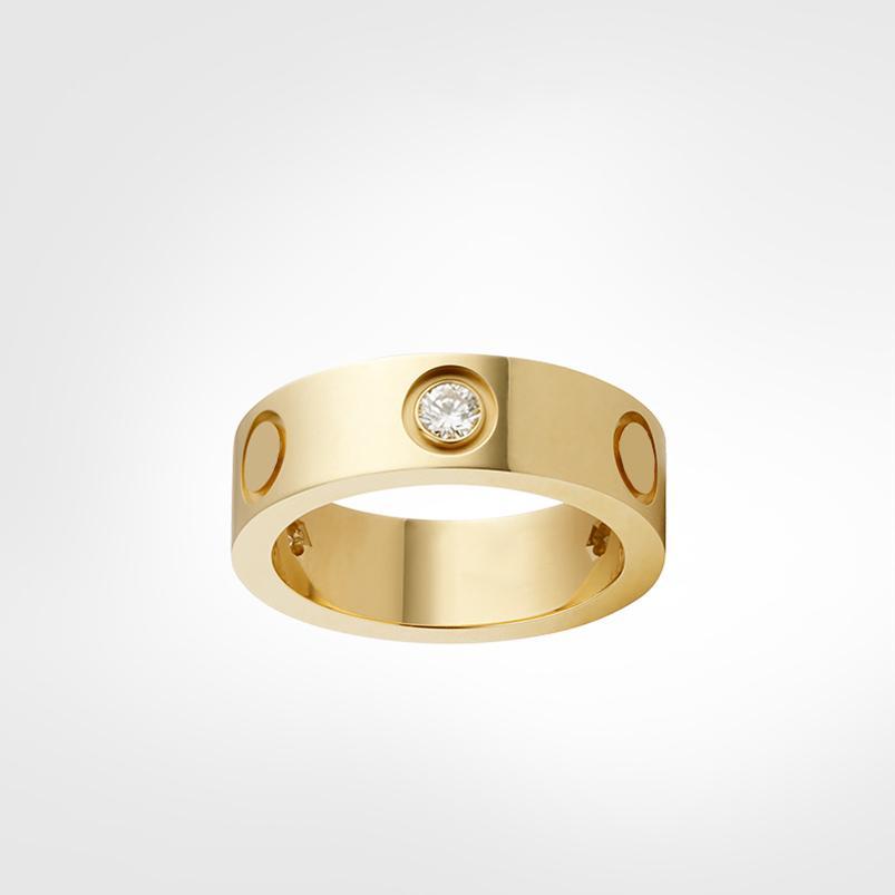 Classico amore vite anello anello da uomo anelli 2021 designer gioielli di lusso donne in lega di titanio in lega d'acciaio placcato oro craft oro argento rosa mai dissolvenza non allergica