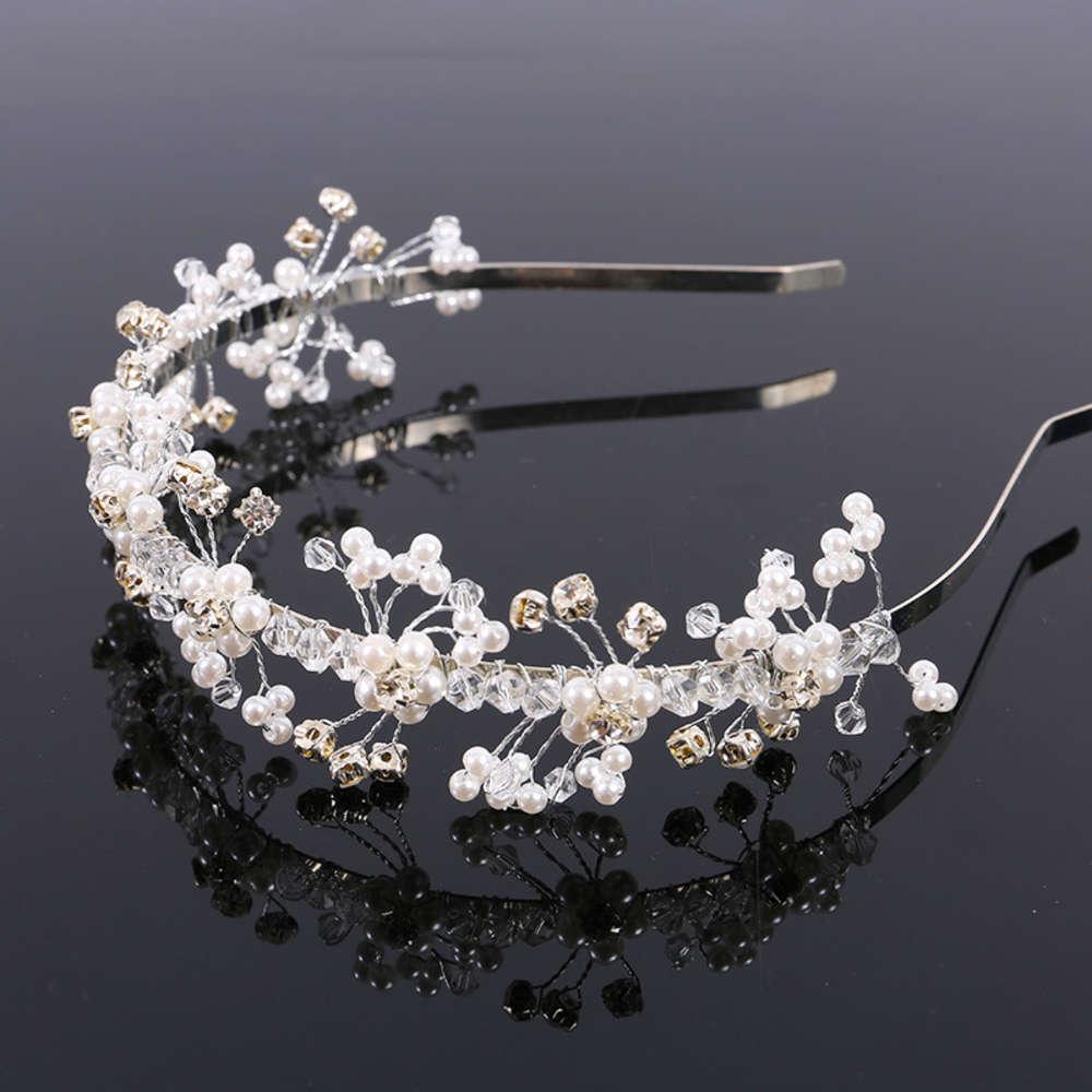 Kreative neue Braut handgefertigte Haarband Sweet Perle Kopfschmuck Hochzeitskleid Modelling Zubehör Stirnband