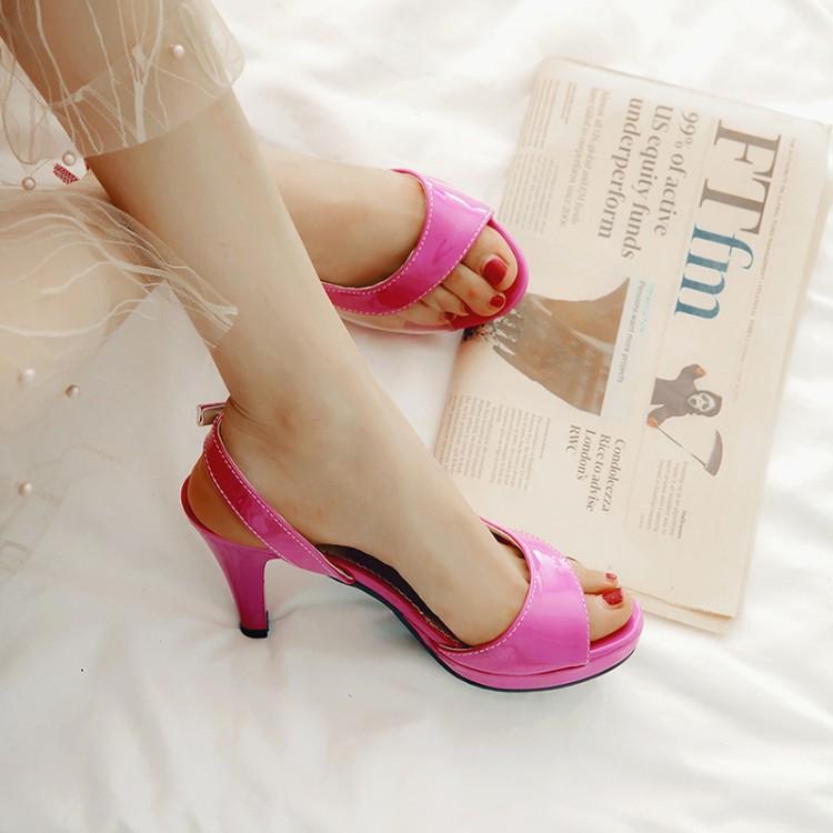 Big Size 11 12 13 14 Ladies Summer Platform Sandals Women Shoes Woman Coloured Transparent Fishmouth Buckle Waterproof
