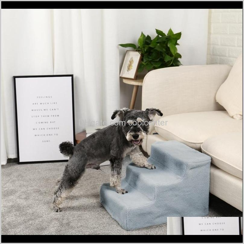 Canels penas suprimentos casa jardim entrega 2021 pawzroad pet cão escadas 3 etapas escada pequena velha rampa para alto sofá filhote de cachorro detacha