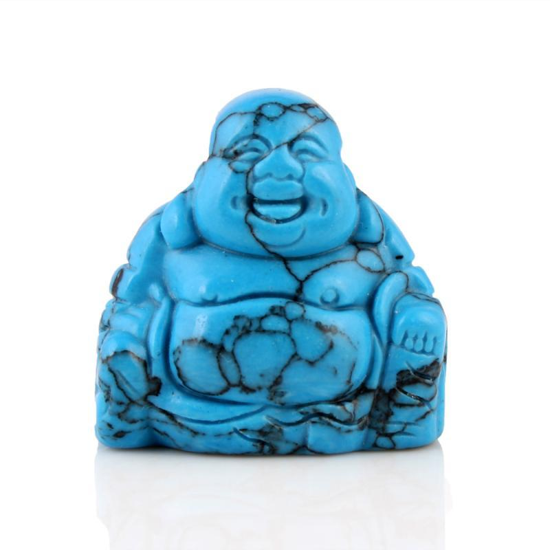 Piedras preciosas sueltas ywg turquesa 1.5inch piedra natural tallado maitreya buddha figurine feng shui artesanía decoración chakra curación reiki libre po