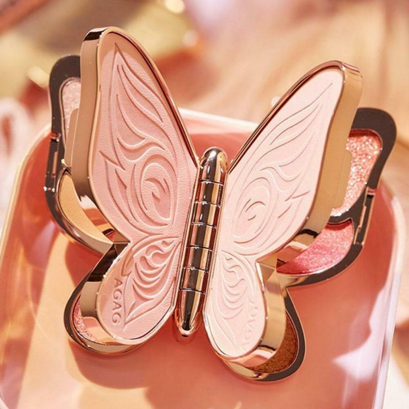 Ombre de paupières Marque 6 couleurs Pauche Palette Papillon Lucky Koi Pearl Sequins Plaque de maquillage mat