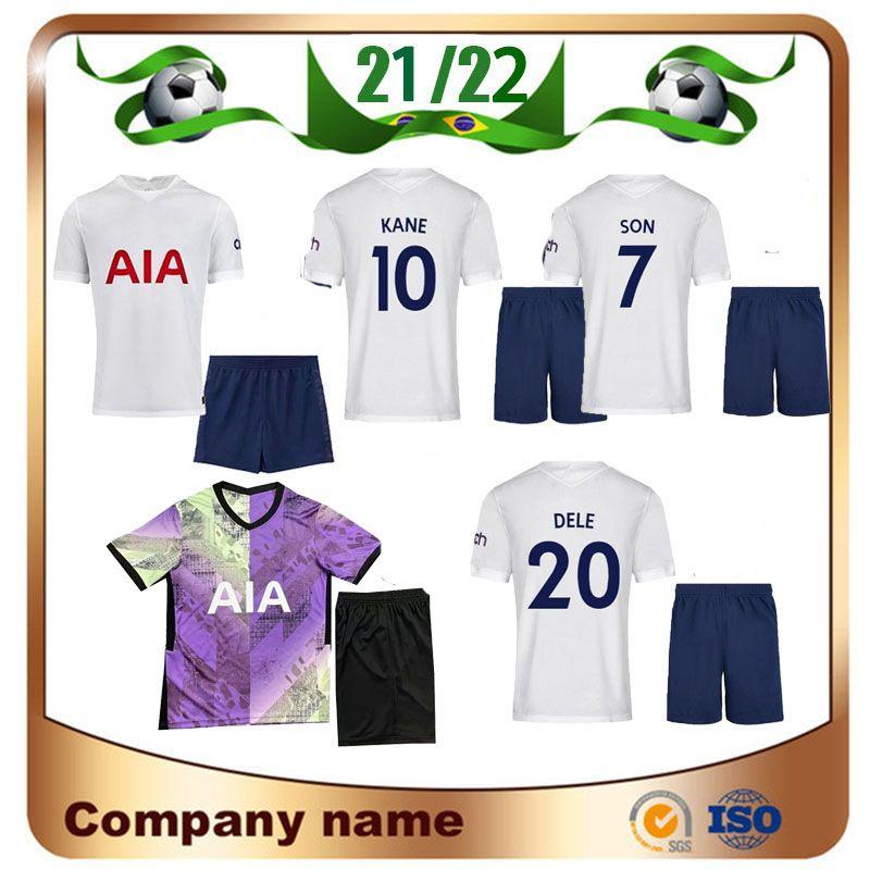 21/22 Bale Kane Kit Kit de futebol Jerseys 2021 Home Son Lamela Dele Child Camisa Lucas Futebol Uniforme