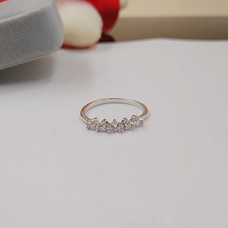 Gioielli di lusso di Choucong 925 Sterling Silver Silver Pera Cut Bianco Topazio CZ Diamante Donne Wedding Engagement Heart Band Anello LZ1137