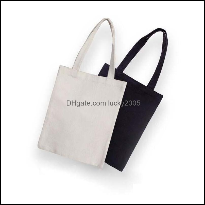 Storage Housekee Organization Home & Gardenblack/White Blank Pattern Canvas Shop Bags Eco Reusable Foldable Shoder Handbag Cotton Tote Bag D