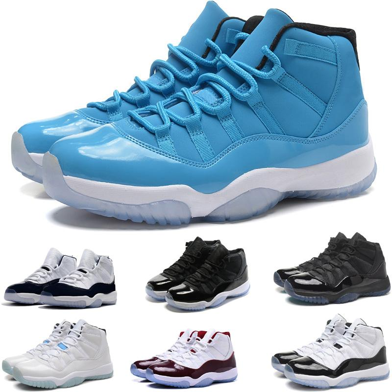 Legend Mavi Uzay reçel Metalik Altın Mens 11 Basketbol Ayakkabıları MID Atletik XI Spor Sneakers Için