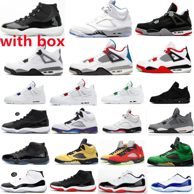 Kutu 5s 5 Stealth 2.0 Yangın Kırmızı Erkek Basketbol Ayakkabıları 11 Jubilee Bred 4 S Siyah Kedi Serin Gri Açık Spor Sneakers