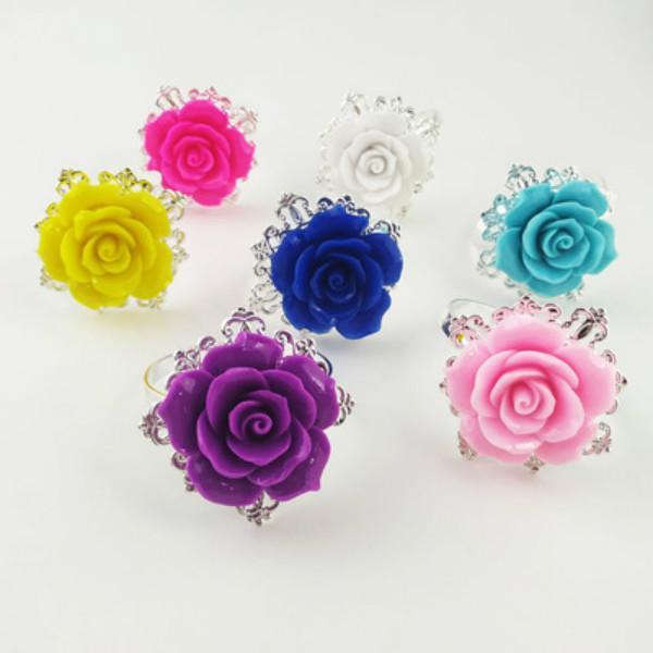 Belle serviette de fleur Rose Anneaux de serviettes d'or Courtiers Couleurs Romantique Nice Beautiful Party Party Party Fournitures Rh8752