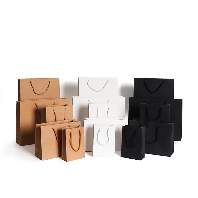 10pcs Carta regalo Borsa Garment Shoe Box Imballaggio Kraft Pape Shopping Wrap