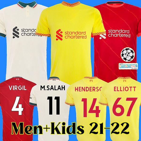 Camisa de futebol 21 22 liverpool camisa de futebol masculino e infantil liverpool MANE SALAH FIRMINO VIRGIL KEITA THIAGO