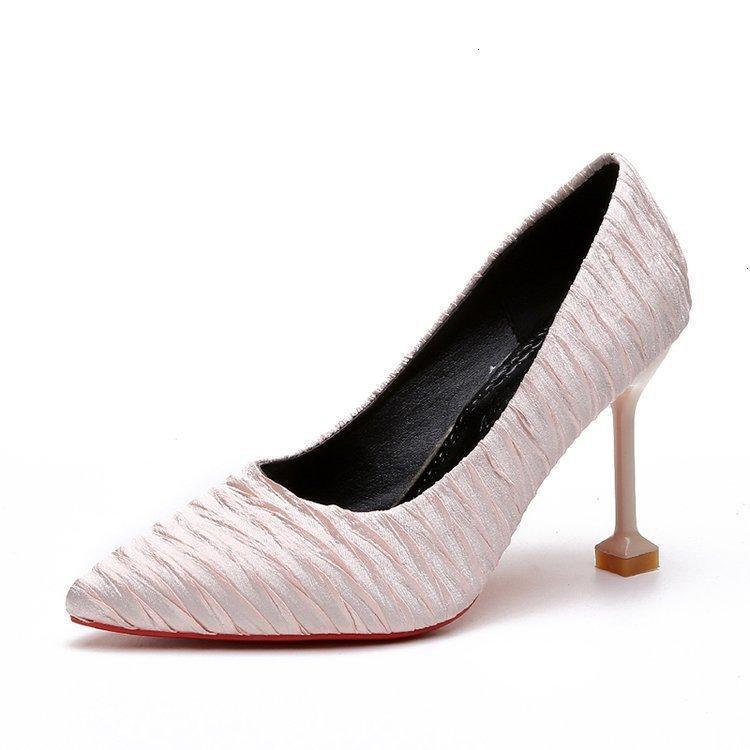 드레스 신발 여성의 하이힐 펌프가 뾰족한 발가락 아가씨 야생 얕은 입 단일 Y09A