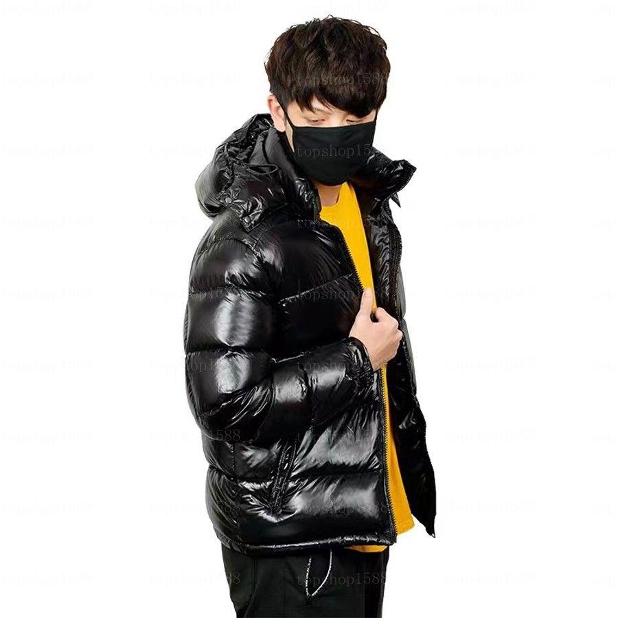 Мужская куртка мода вниз пальто одежда мужчины женщины с капюшоном куртки стилист зимний размер S-XXXL