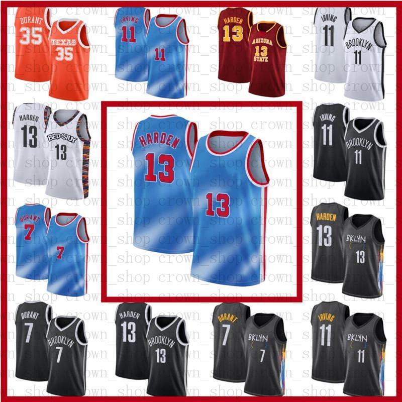 7 كيفن 11 كيري دورانت جيمس ايرفينغ 13 هاردن كرة السلة الفانيلة ncaa بروكلين الرجال مخيط جيرسي s3