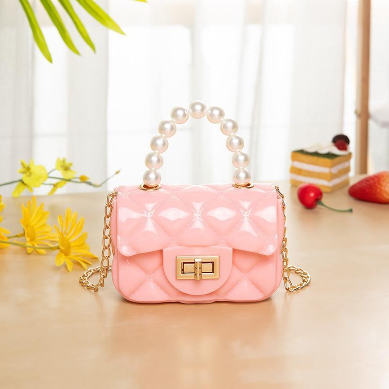 Neueste Ins PVC Qualität Kleinkind Kinder Mädchen Gelee Mini-Taschen Geldbörse Handtasche Mutter und ME Kinder Schule One-Shoulder Bags 912 V2