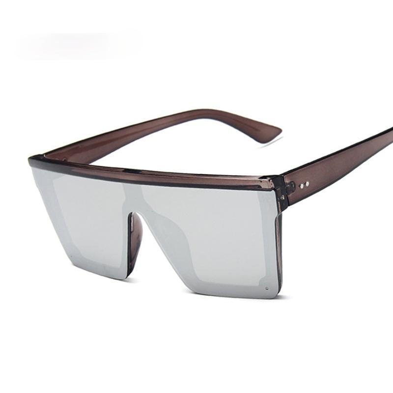 Neue Schwarz Quadrat Sonnenbrille Frauen Große Rahmen Mode Retro Spiegel Sonnenbrille Weibliche Marke Ladyvid1