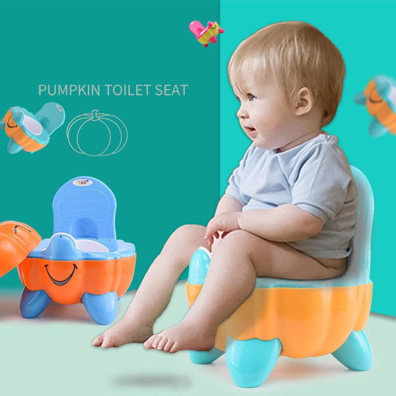 3 Colors Potties & Seats Cute Pumpkin Style Designer Toilet Seat for Children High Quality Children's Training Device