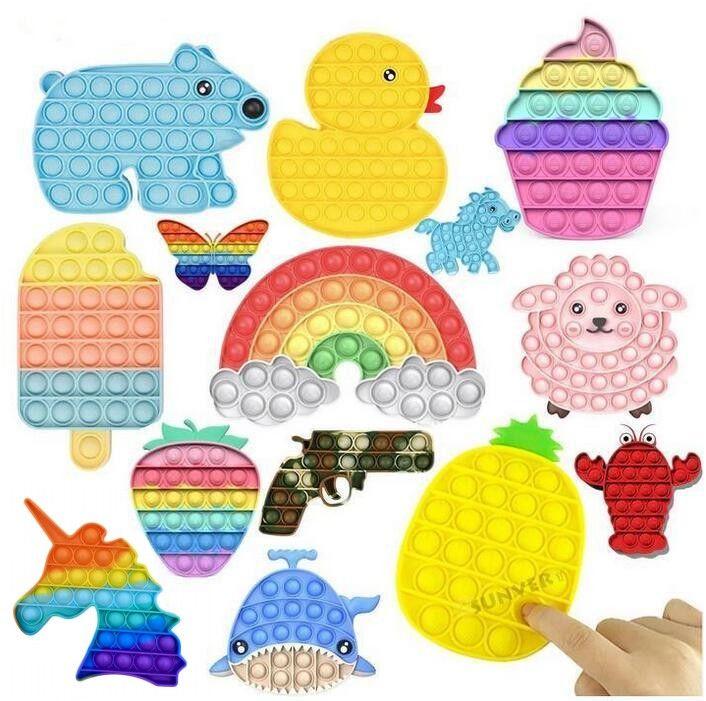 1pc Multicolor It Fidget Sensory Spinge Giocattoli Giocattoli Bolla Gioco Ansia Stress Stress Reliever per bambini Adulti Autism Bisants Speciali CM18