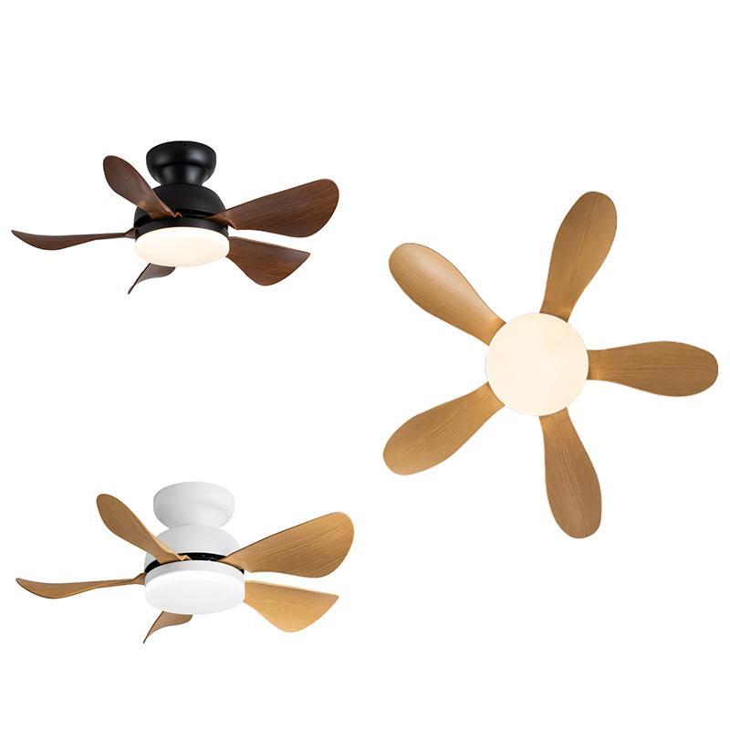 Mini ventilatore a soffitto lampada a LED di alta qualità ABS Blade DC motore 110-240V moderno telecomando multicolor per sala da pranzo camera da letto