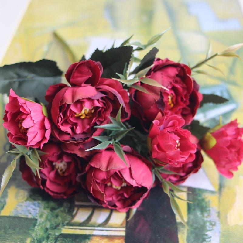 Dekoratif Çiçekler Çelenk Sahte Şakayık Dekorasyon Yapay Çiçek Buket Masa Centerpieces Süsler