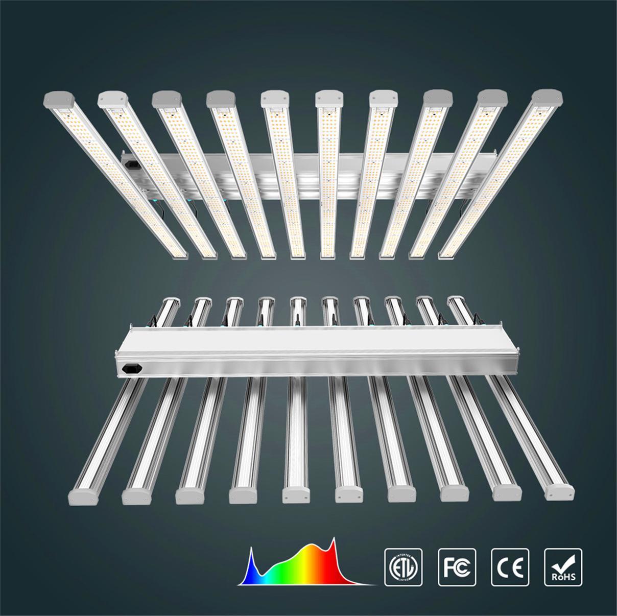 12 Bars 900W Full Spectrum Samsung281B LED Crece las barras de luces para las plantas hidropónicas de interior y Bloomvg Introduzca rápidamente la fase de crecimiento para aumentar la producción