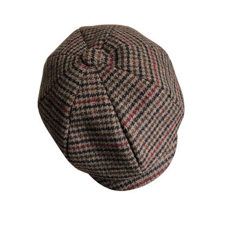 Sboy Kap Kafes Bere Şapka Erkek Kadın Tüvit Gatsby Sekizgen Herringbone Vintage Ivy S BLM230 210429