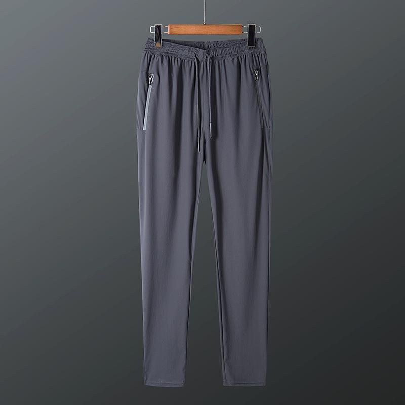 NUEVA Malla Aire acondicionado Casual Tamaño grande Talla grande Cintura Elástica Cómodo Versátil Secado rápido Pantalones Moda de los hombres