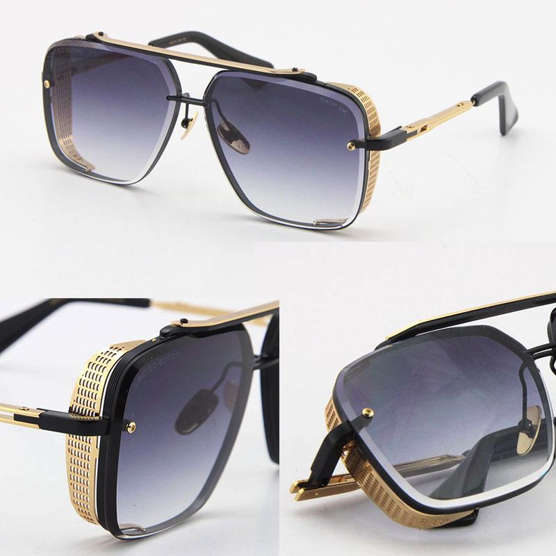 Limitéd e d six lunettes hommes métal vintage lunettes de soleil classiques style de mode carré sans cadre UV UV 400 lentille avec étui vente modèle lunetier mâle et femelle adumbral