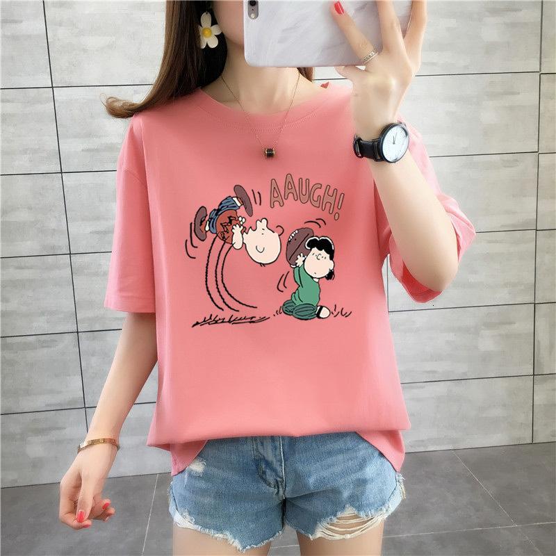 2021 Summer NOUVELLES PORTÉES FEMMES LOOSE PRINCIPLES T-shirt T-shirt à manches courtes Chemisier de sous-vêtements pour femmes