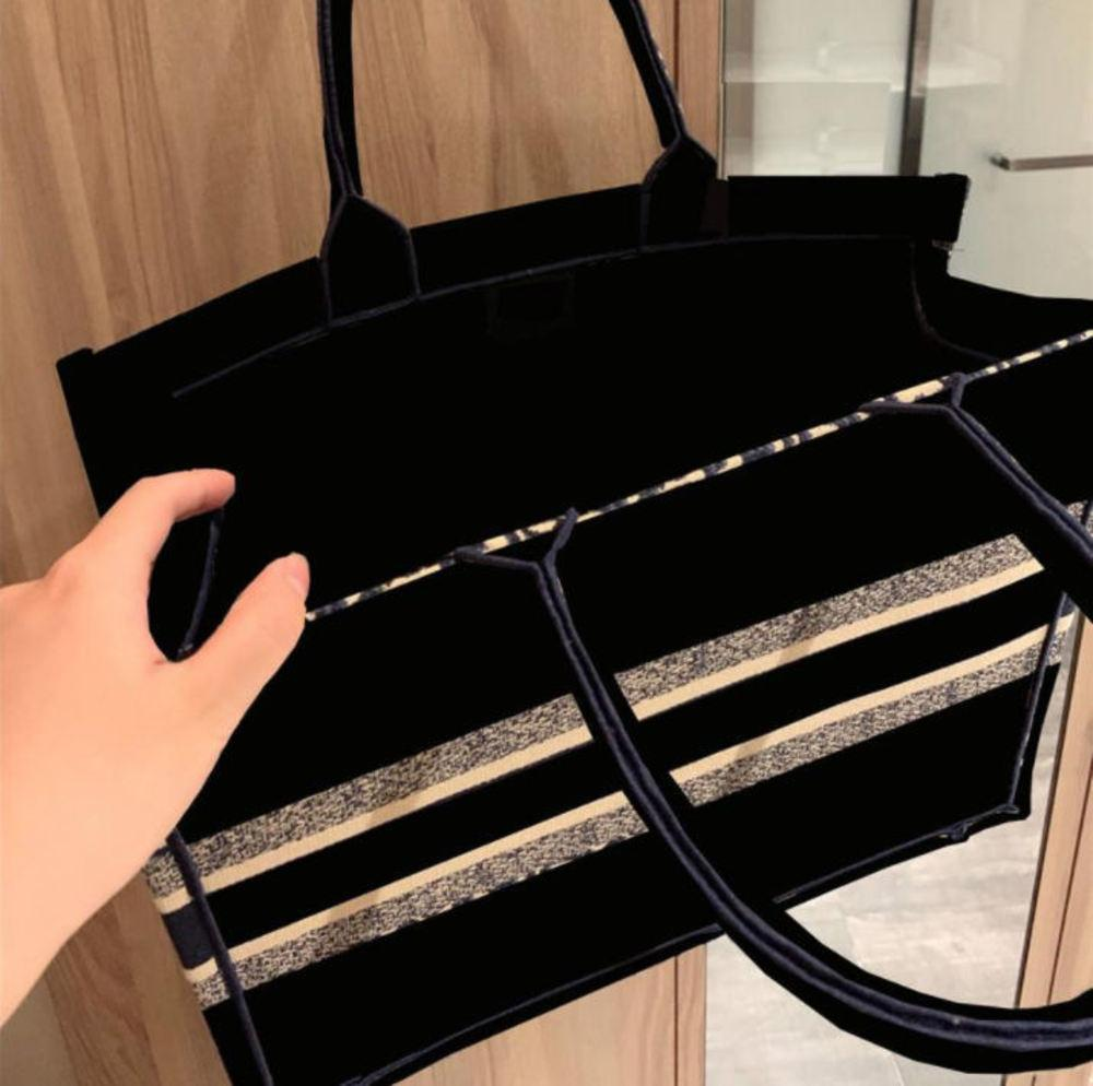 Taschen Handtasche Mode Damen 42 cm Luxus Leinwandstickerei Shopping Großhandel Bolsa Feminina