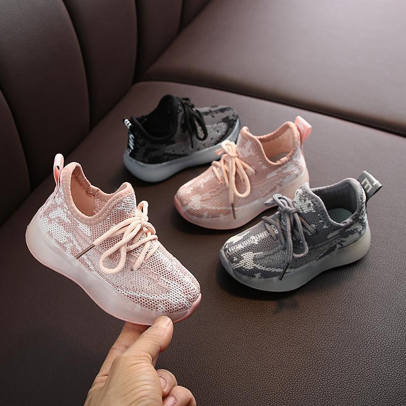 2020 Nuova autunno Scarpe per bambini in autunno Ragazzi traspiranti Ragazze Sport Bambini Casual Sneakers Baby Running Mesh Canvas LJ200907