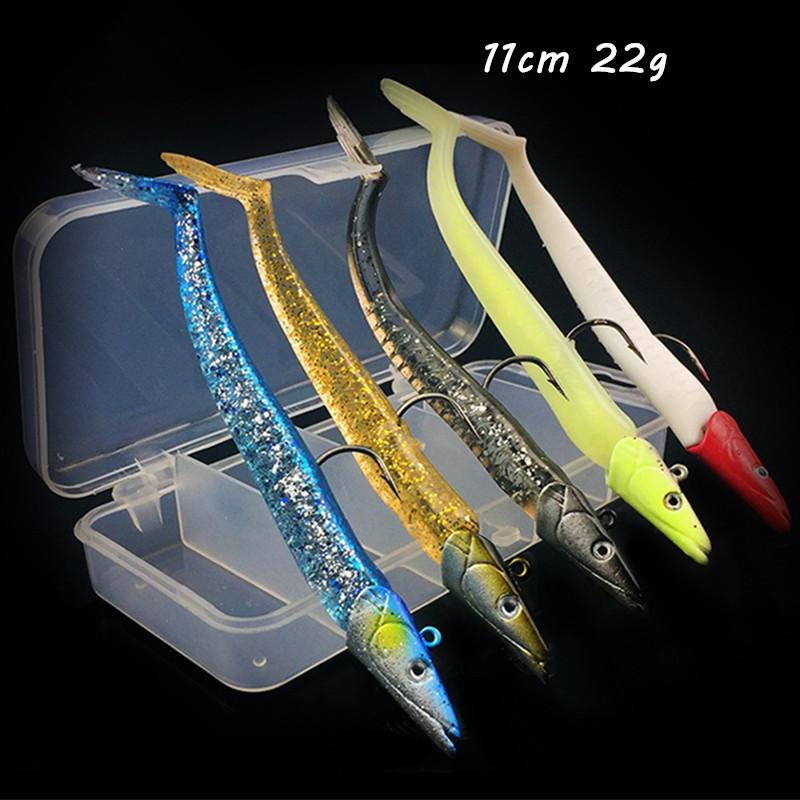 5pcs/box 5 Color Mixed 11cm 22g Jigs Hook Fishing Hooks Soft Baits & Lures Pesca Tackle Accessories WA_531