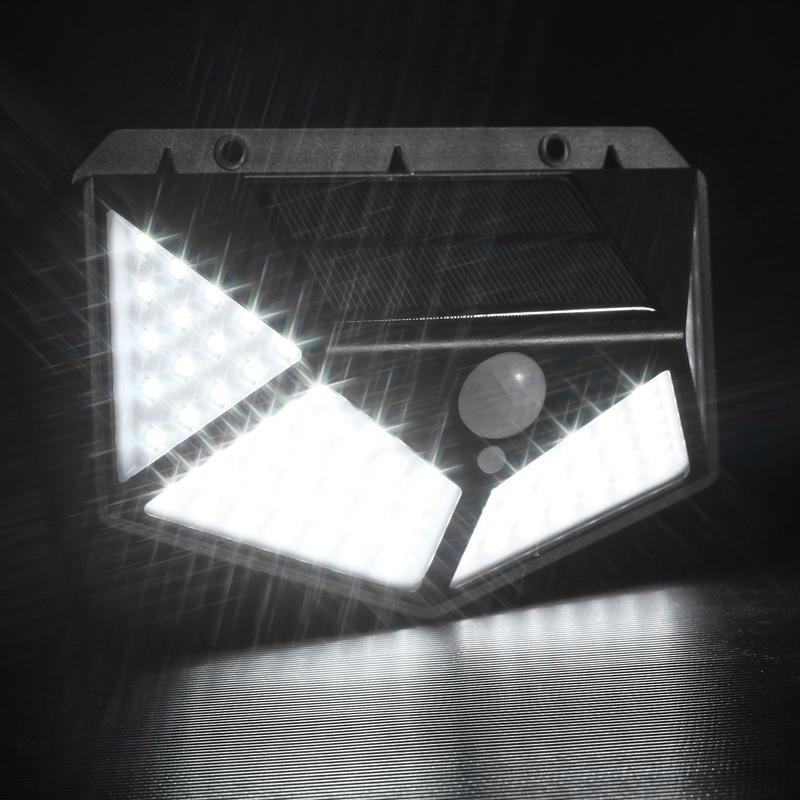 100 LED solar lâmpada ao ar livre lâmpada solar ip65 PIR Motion Sensor Lambara Iluminação solar Jardim Pistola de rua Decoração luzes