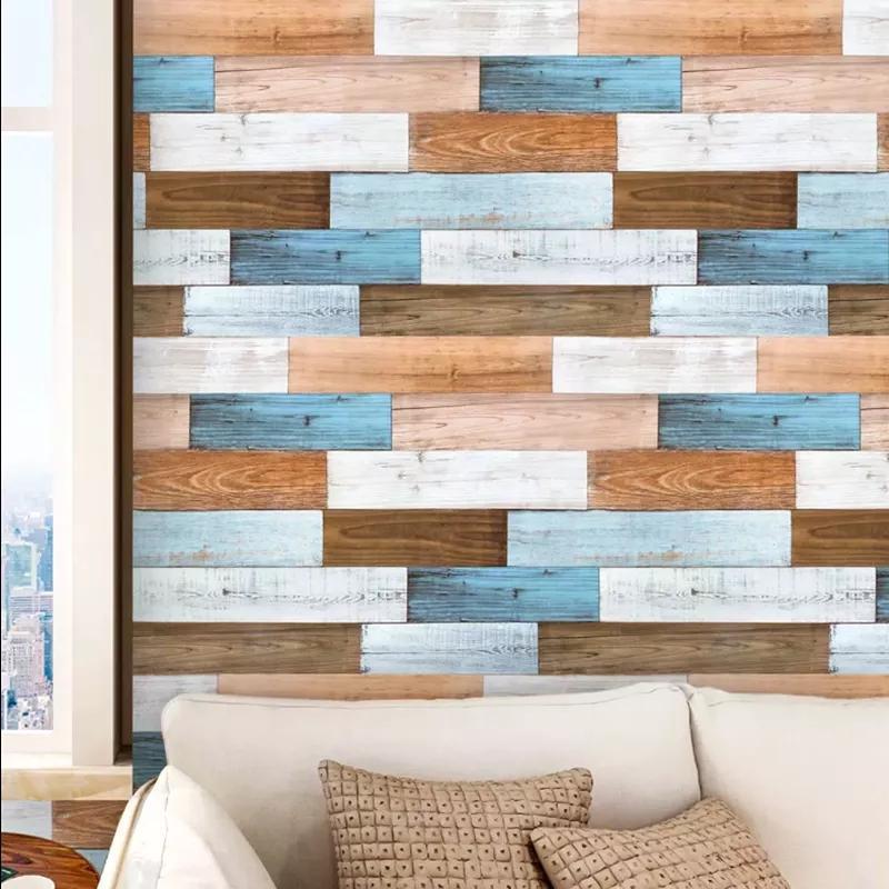 Papéis de parede mediterrâneos casca e vara papel de parede autoadesivo adesivo à prova d'água para decorações de parede sala de estar 3d adesivos
