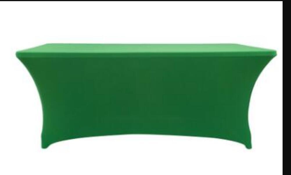 Table de table élastique Lycra rectangulaire STRAND STRETTE STRETTE SPANDEX COUVERTURE DE MARIAGE DE MARIAGE OU ÉVÉNEMENT HÔTEL Décoration de la fête LZ0067