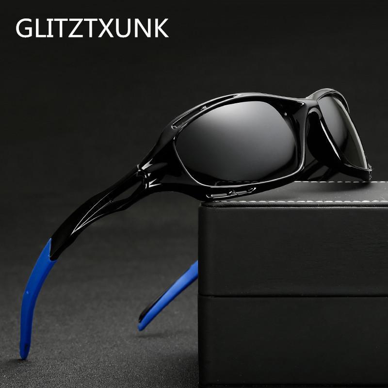 GLITZTXUNK Polarize Güneş Gözlüğü Erkek Kadın Kare Moda Marka Tasarımcısı Vintage Spor Sürüş Güneş Gözlükleri Erkek Gözlük UV400