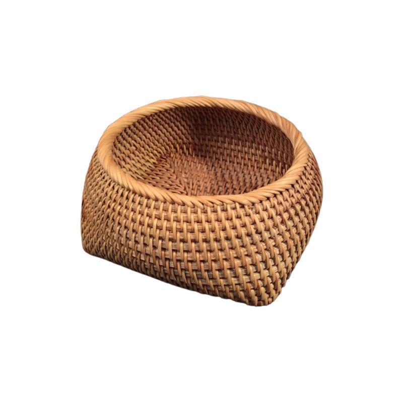 Rattans Weben Erfrischungsbox Reiner natürlicher handgemachter Lagerkorb Handgewebtes Brot-Obst-Teller für Küchen-Picknickkörbe