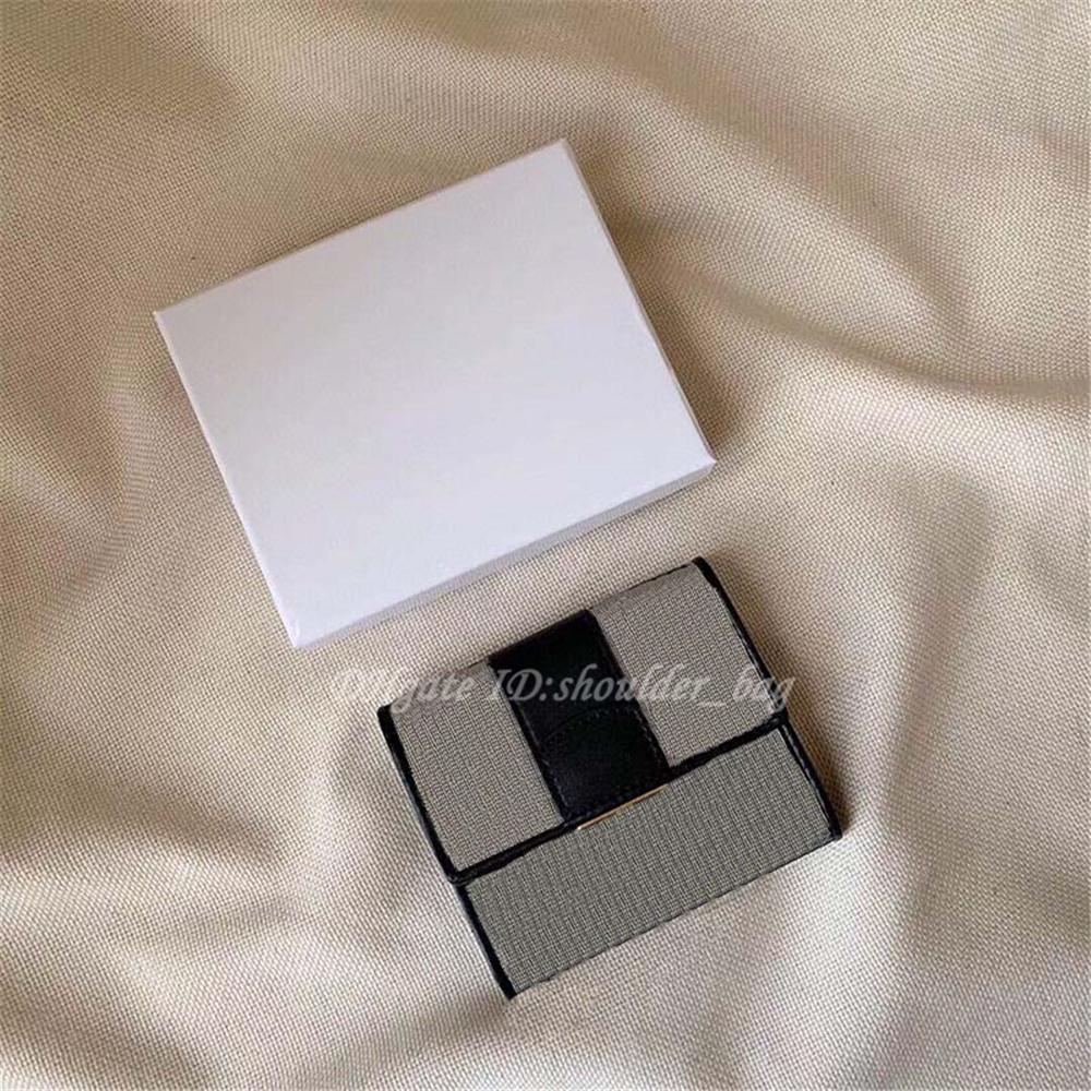 Moda Mulheres Luxo Oblique Carteira Bolsa De Carteira Bolsa Impresso Moeda Moeda Moeda Metal Letras C e D Famuoso Designers Card Card Caixa De Caixa Interlayer Bolsa Culth Bolsas
