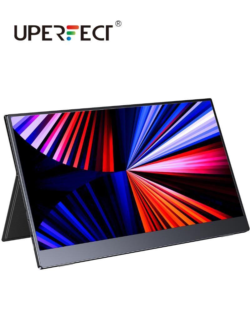 15,6-Zoll-tragbarer Monitor FHD 1080P Typ-C LCD-Bildschirm HDR Ultra Slim-Anzeige für Mac / PC / Smartphone / PS4 / Switch-Monitore