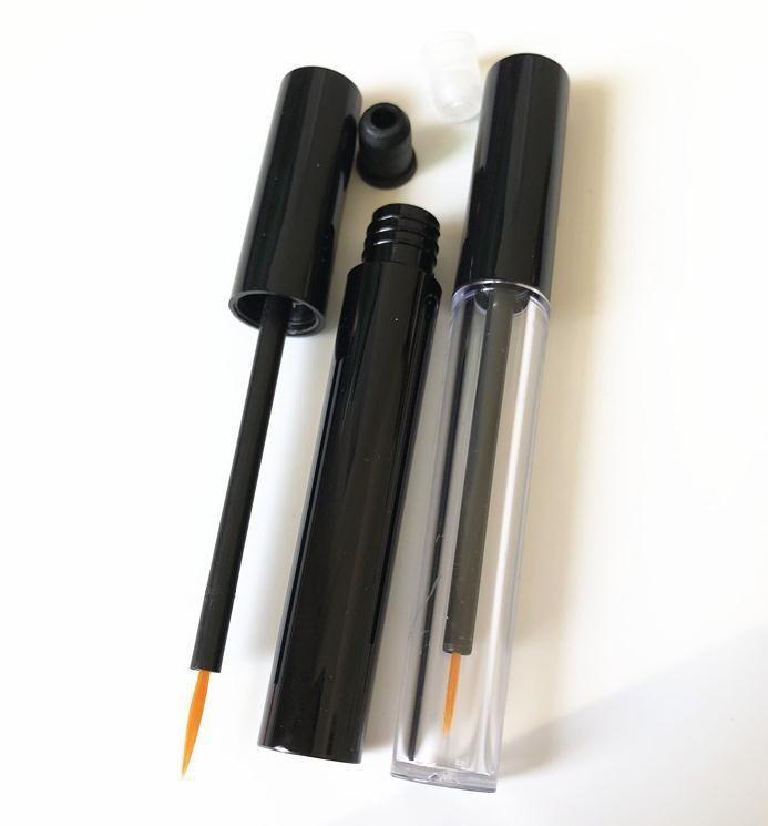 1000 teile / los 3ml leerer kunststoff klare eyeliner rohr, schönheit make-up wimpern wachstum flüssigkeit nachfüllbar flasche sn2703 yjev